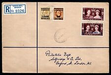 Morocco Agencies Tangiers - 1937 KGVI Coronation Registered First Day Cover