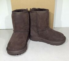 UGG Classic II Toddler Girl's Size 9 Chocolate Brown Suede Winter Boots X1-731