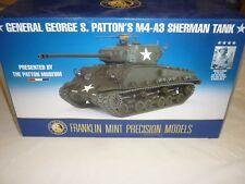 Franklin Comme neuf General George s Patton M4-A3 char Sherman Boxed