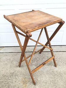 Vintage Compact Foldable Dietzgen Adjustable Original Drafting Table