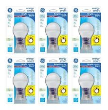 Pack of 6 15W CFL Energy Smart Bulb Equivalent to 60W Daylight Cool Color Tone