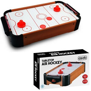 Kids Table Top Mini Air Hockey Paddle Pushers Pucks Toy Childrens Family Game