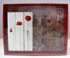 Flower By Kenzo Eau De Parfum 3 Miniatures Coffret Set 3 x 4 Ml. BRAND NEW BOX