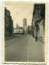 Foto, Wehrmacht, Strassenszene in Gent, Belgien, a (W)1297
