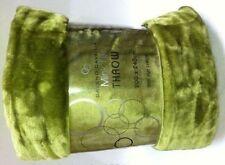 Lime Green Mink Throw Luxury Rich Soft Sofa Bed Runner Fleece Blanket XL 200x240