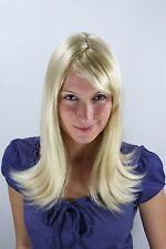 Perruque de femme clair blonde mélange méché La page de crête Postiche 50 cm