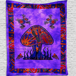 Nordic Wall Hanging Tapestry Psychedelic Bizarre Print Painting Backdrop Cloth~