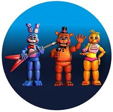 Five nights at Freddy's FNaF Round Edible Party Cake Image Frosting Icing Sheet