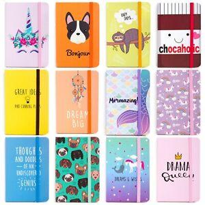 Kids Hardback Lined Pocket Notebook A6 Notepad School Girl Boy Diary 108 DESIGNS
