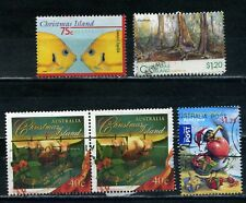 CHRISTMAS ISLAND Postage Stamps - selection of five used stamps