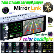 "New listing 4.1""Inch 1Din Car Stereo Radio Hd Mp5 Player Bt Usb Fm Radio 7 Color Blacklight"