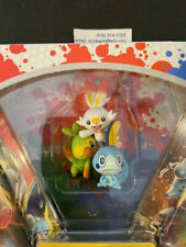 Pokemon GROOKEY, SCORBUNNY, & SOBBLE figure-New exclusive from Sword & Shield !