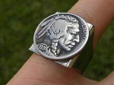 Ring Vintage Buffalo Indian Nickel coin  adjustable  nice gift motorcycle biker