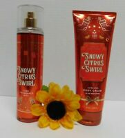 Bath and body works snowy citrus swirl 8oz fragrance mist and body lotion, new