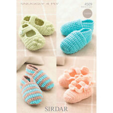 Sirdar Baby Crochet Pattern 4509 - Shoes  4 Ply to fit birth - 2 years