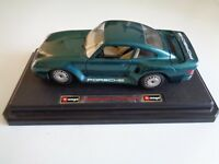 Burago Porsche 959 Turbo 1986 Green Scale 1:24 Collectable decorative car model