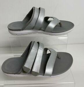 Fit Flop Women's Silver Sandals Flats Shoes Size: UK 5