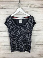 JACK WILLS T-Shirt - Size UK10 - Navy - Great Condition - Women's