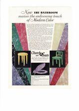 VINTAGE 1929 CHURCH SANI SEATS TOILET COLORFUL MODERN TABLE CHAIR AD PRINT