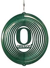 SWEN Products OREGON DUCKS Circle Swirly Metal Wind Spinner