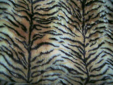 """Tiger Animal Print Patterned Fur Fabric 60""""wide SOLD BY THE METRE"""