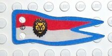 LEGO - Cloth Flag 2 x 5 Banner with Royal Knights Lion Head - Red, White & Blue