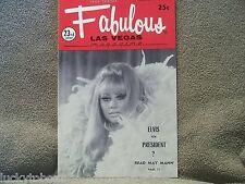 Fabulous Las Vegas Magazine Elvis Presley's 3rd Show In Las Vegas 2/21/1970