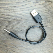 3.5mm AUX Audio To USB 2.0 Male Charger Cable Adapter Headphone Cord For Car MP3
