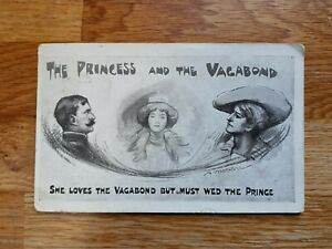 Theatre postcard of The Princess and the Vagabond - posted in Wales to Leicester