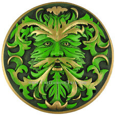 Green Man - Jack in the Green -  Wall Plaque Oberon Zell - Green Finish