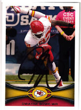 Dwayne Bowe SIGNED TOPPS CARD Kansas City Chiefs AUTOGRAPHED