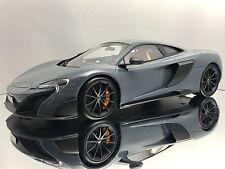 Top Speed / TSM McLaren 675LT Chicane Grey Sealed Resin Car Model 1/18