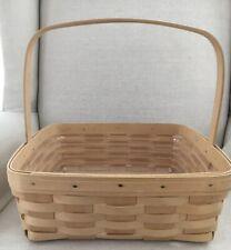 New ListingVintage Longaberger Natural Finish Pie Basket Dated 1999 Euc