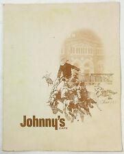 1983 Original Vintage Menu JOHHNY'S CAFE Omaha Nebraska Next To The Stockyards