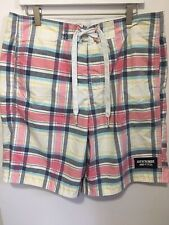 Abercrombie And Fitch Men's Size Large Swim Trunks Plaid Multicolor