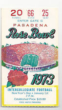 1973 Ohio State USC Southern Cal  Rose Bowl football ticket stub National Champs