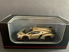 Lamborghini Veneno Gold With Red Line 1/64 Diecast Model Car by Kyosho KS07040A1