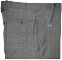 $325 NWT ZANELLA NORDSTROM DEVON GRAY TONE PLAID SUPER 120'S WOOL DRESS PANTS 32