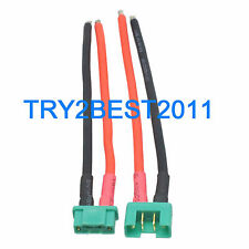 1 Pair MPX Multiplex Connectors Male & Female 14awg 10cm Silicone Wire