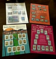 World Of Stamps Collectible Series - LOT OF 4 DIFFERENT - Shells, Christmas, etc