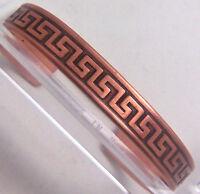 Copper Cuff Bracelet Wheeler Sciatica Arthritis Healing Detox Folklore cb 145