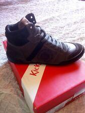 Sneakers Kickers in Pelle colore Nero e Grigio n.41