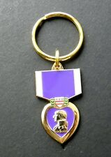 PURPLE HEART MILITARY MERIT MEDAL AWARD KEYRING KEY RING CHAIN 1.5 INCHES