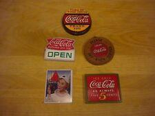 5 Vintage Coca-Cola Refrigerator Magnets
