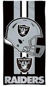NFL Bath Towel Las Vegas Raiders Beach Towel Helmet 150x75cm 099606187567