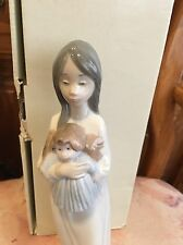 LLADRO NAO 1079 A New Doll Girl with Her Doll Mint Condition! Original Box!