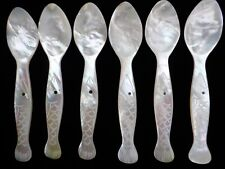 More details for six hand carved mother of pearl 4