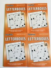 Lot of 4 LETTERBOXES Penny Press Variety Puzzles Books (Tanglewords)