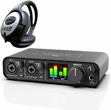 MOTU M2 USB 2-Kanal Audio-Interface + keepdrum Kopfhörer