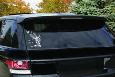 "Nice Silhouette Tree hand birds  Decal Vinyl Sticker car laptop 6"" white"